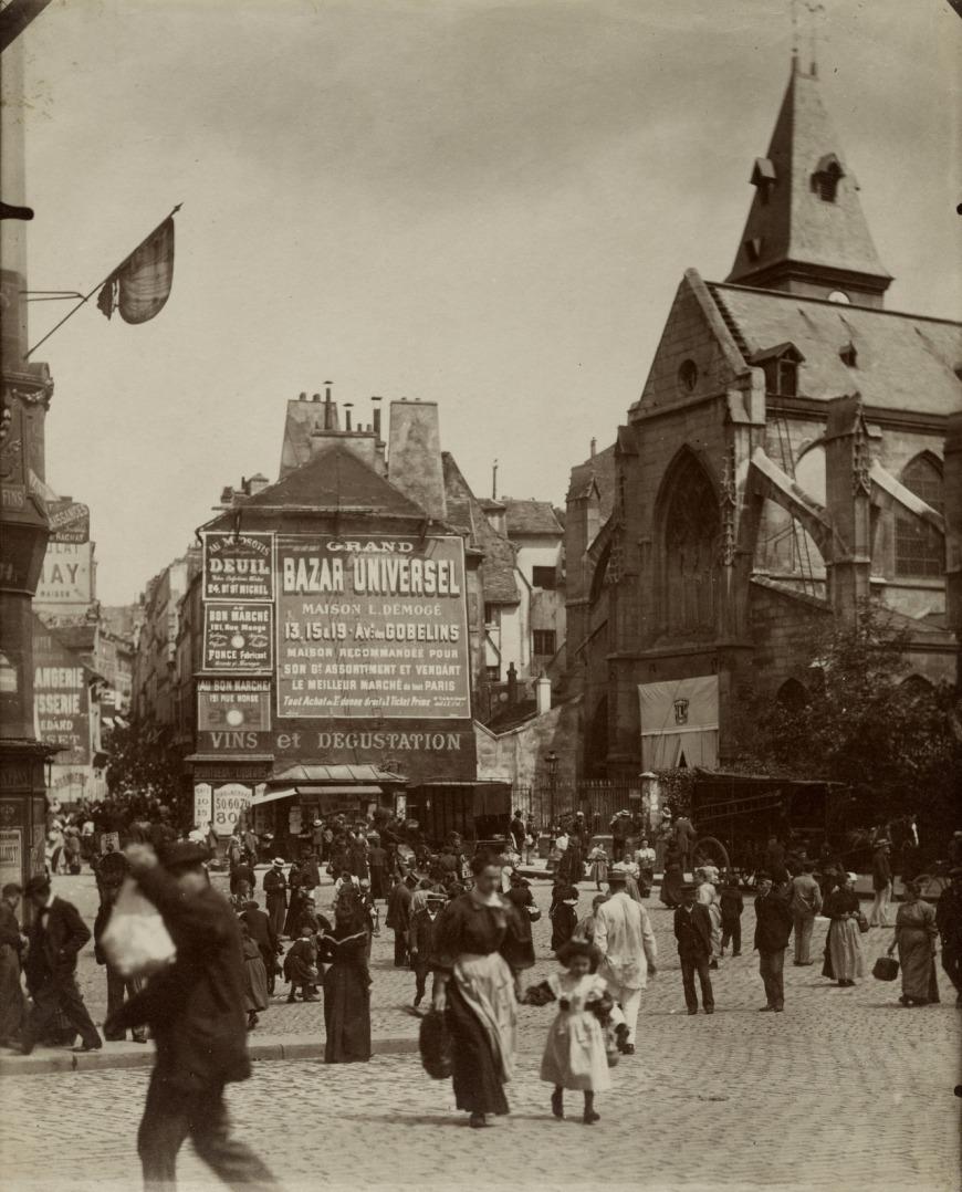 Place Saint-Médard par Eugène Atget, French, 1857 - 1927